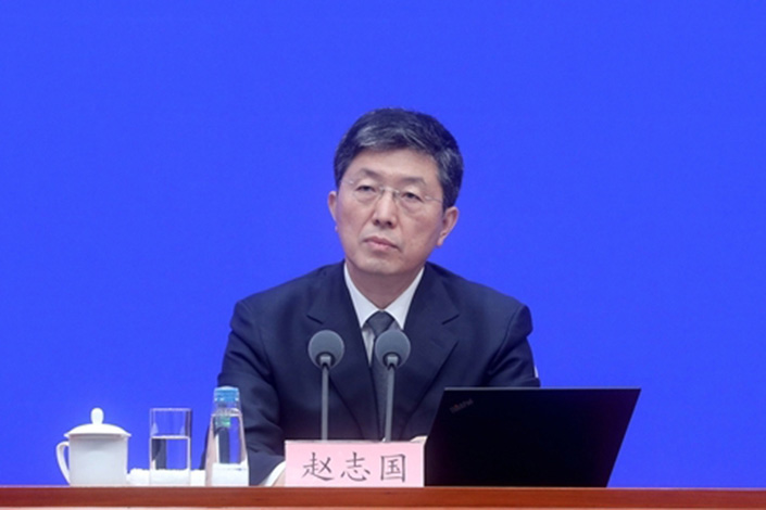 Zhao Zhiguo, the general director of the Ministry of Industry and Information Technology's Information and Communication Management Bureau. Photo: Zhang Yu/China News Service
