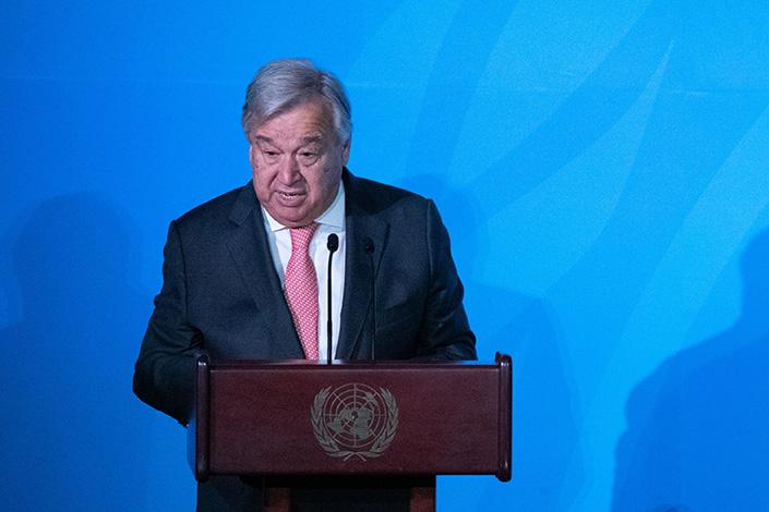 United Nations Secretary-General Antonio Guterres. Photo: Bloomberg