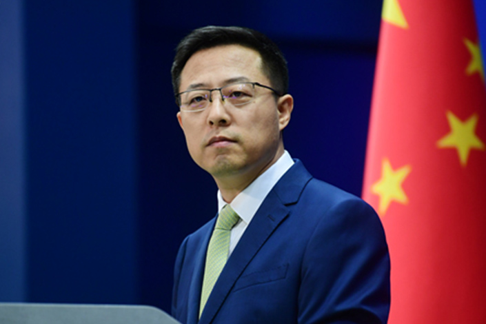 Chinese Foreign Affairs Ministry Spokesperson Zhao Lijian speaks at a press conference in Beijing on Friday. Photo: fmprc.gov.cn