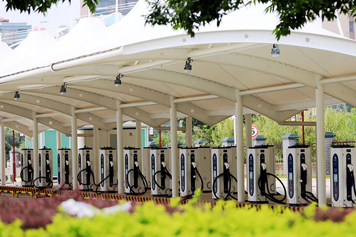 An energy service station in Liuzhou, South China's Guangxi province, on Sept. 1. Photo: VCG