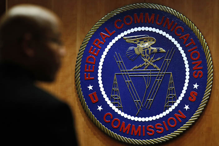 The seal of the Federal Communications Commission in Washington. Photo: VCG