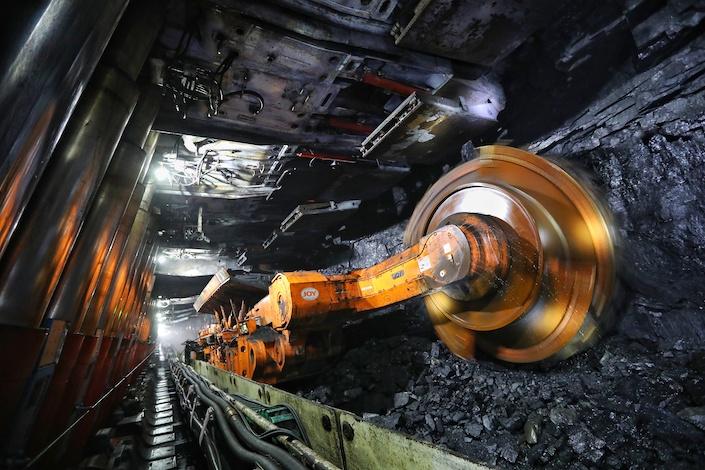 A coal mine in Ordos, Inner Mongolia.