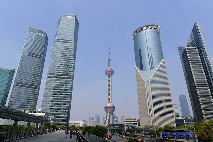 A view of Shanghai's Lujiazui Financial District on March 28. Photo: VCG