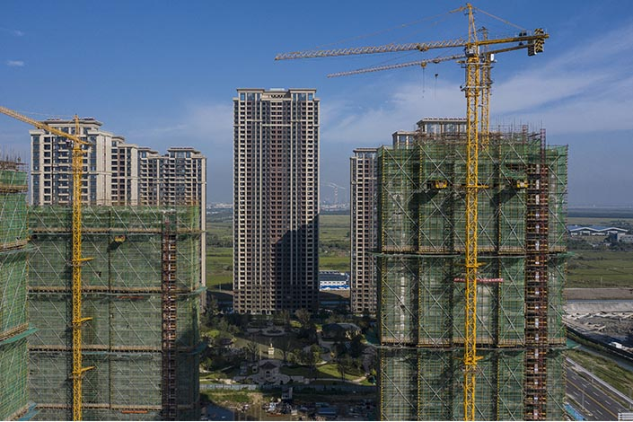 High-rise buildings developed by Evergrande Group under construction in Taicang, East China's Jiangsu province, on Sept. 24. Photo: VCG