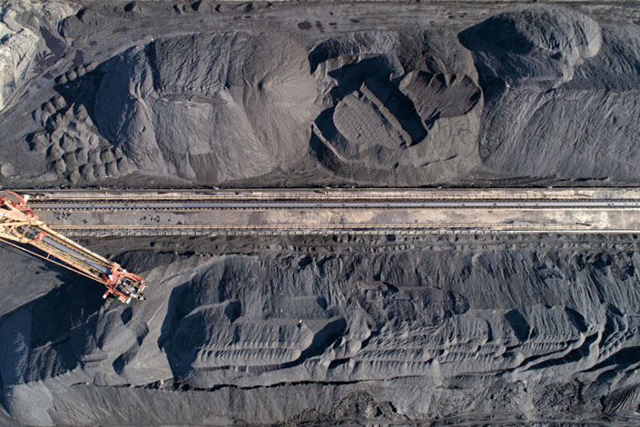 A coal-fired thermal power plant's coal reserves piled up in Xiangyang, Central China's Hubei province, in December 2020. Photo: VCG